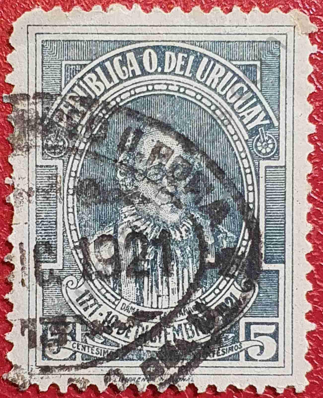 Dámaso Antonio Larrañaga - Sello Uruguay 1921