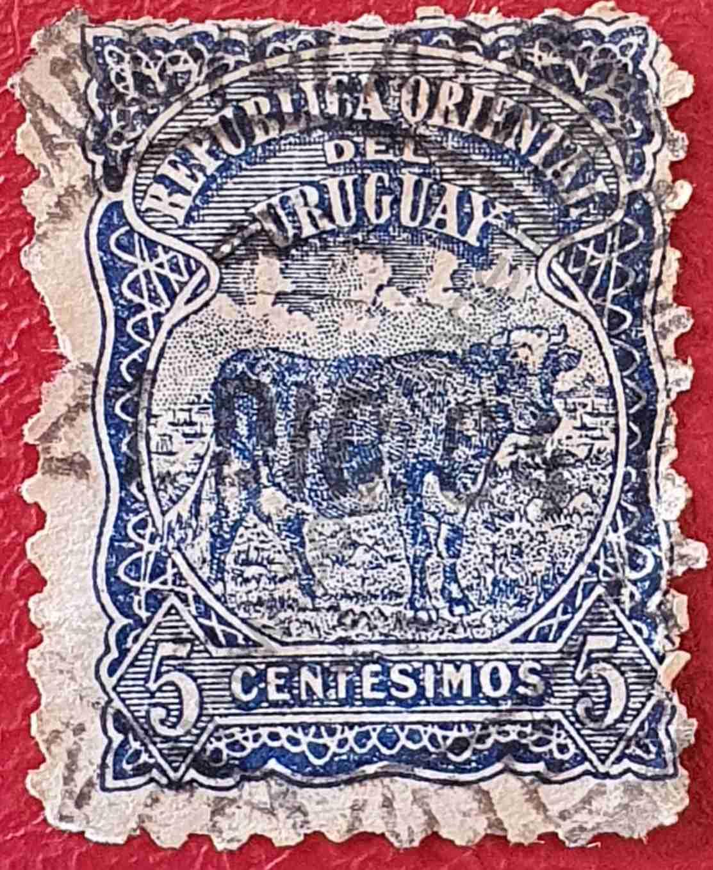 Buey 10c - Sello de Uruguay 1906