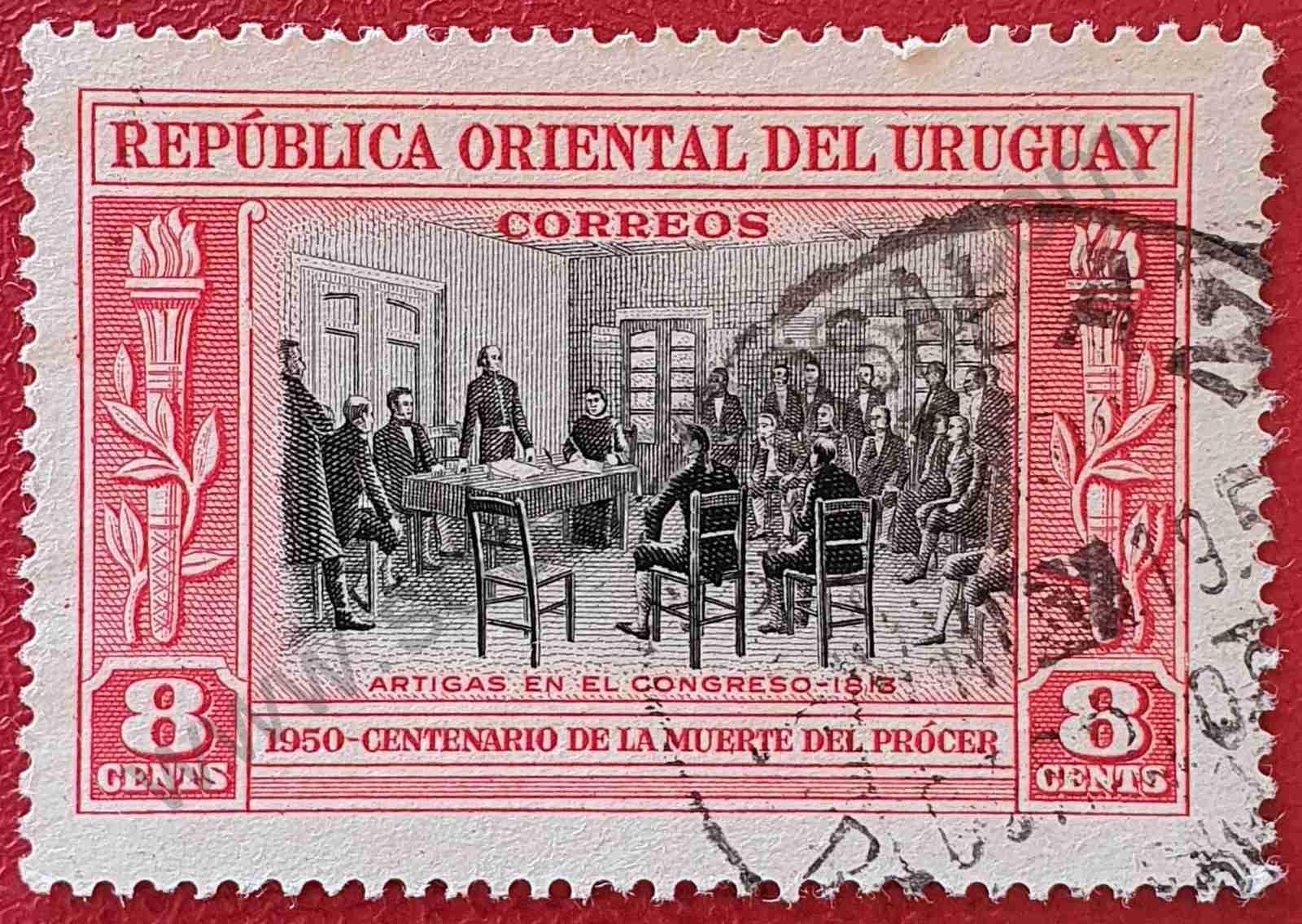 Congreso 1813 - Sello Uruguay 1952