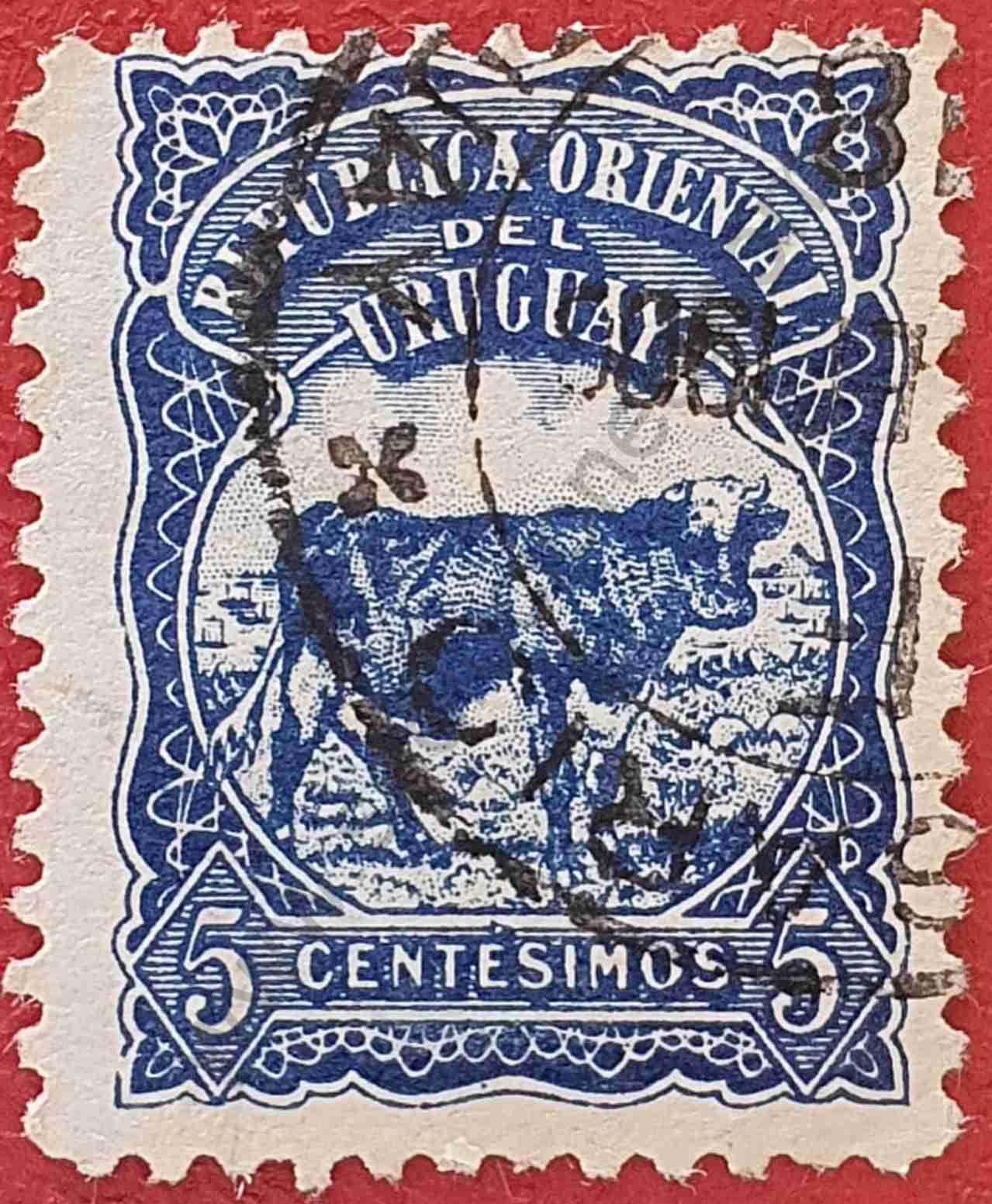 Vaca 5c - Sello Uruguay 1904