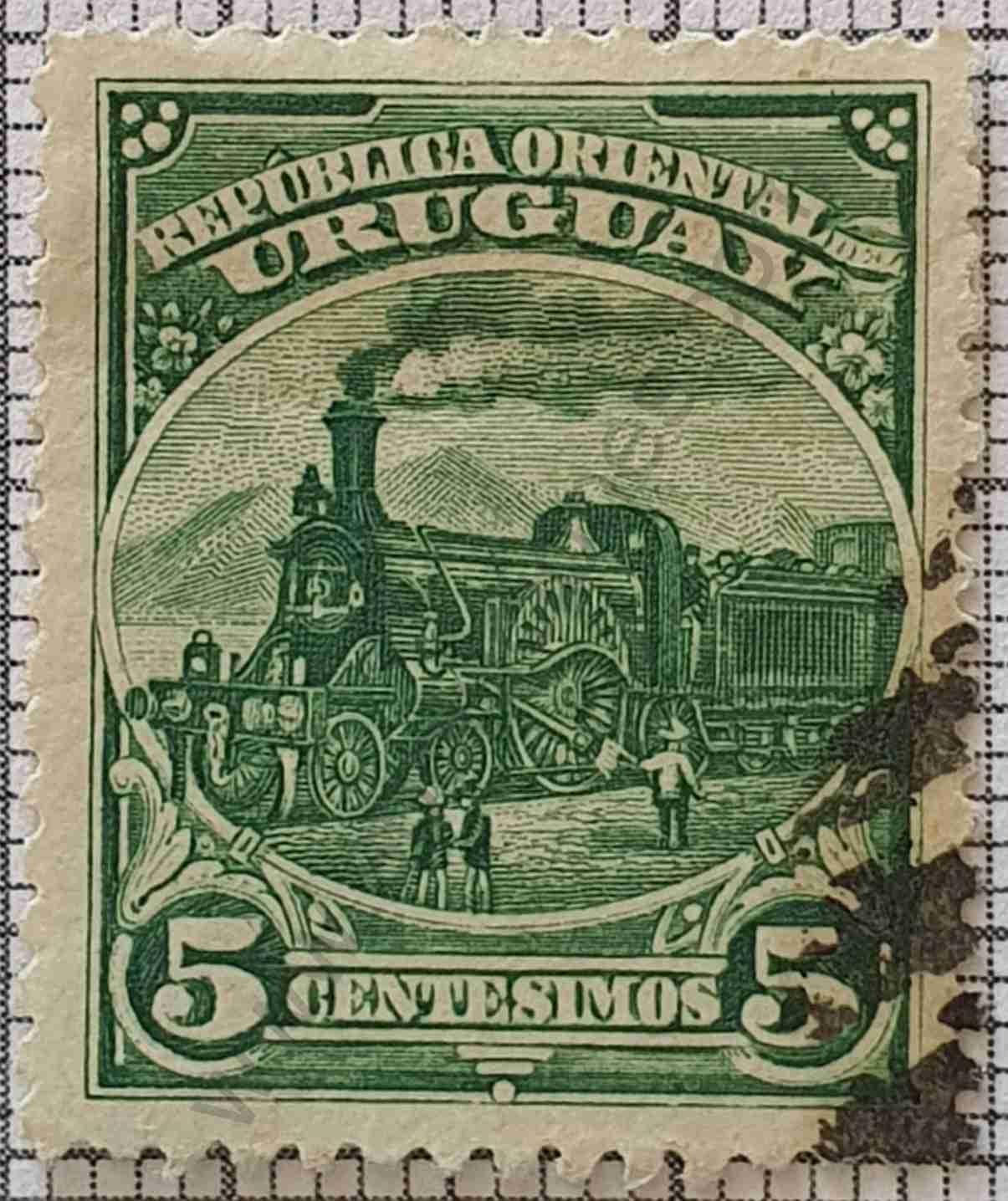 Tren 5c - Sello Uruguay 1897