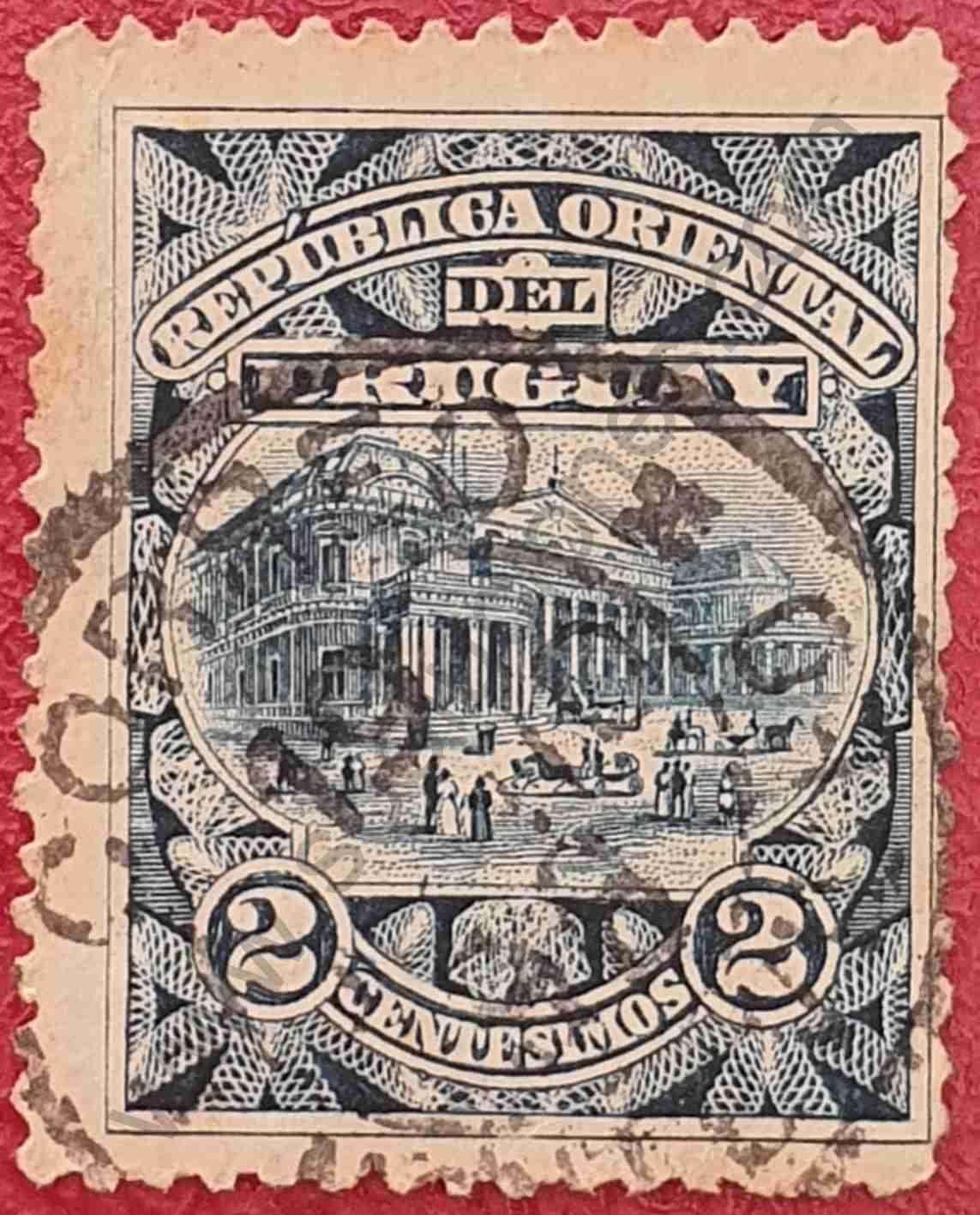Sello del Teatro Solís - Uruguay 1895