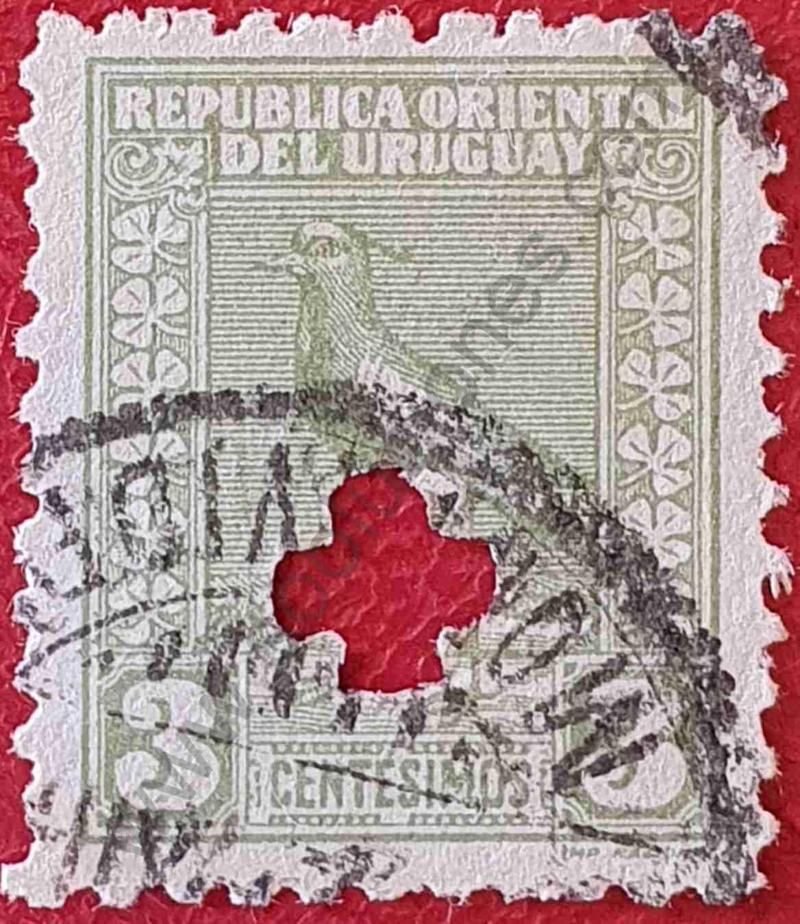 Tero 3c - Sello de Uruguay 1927