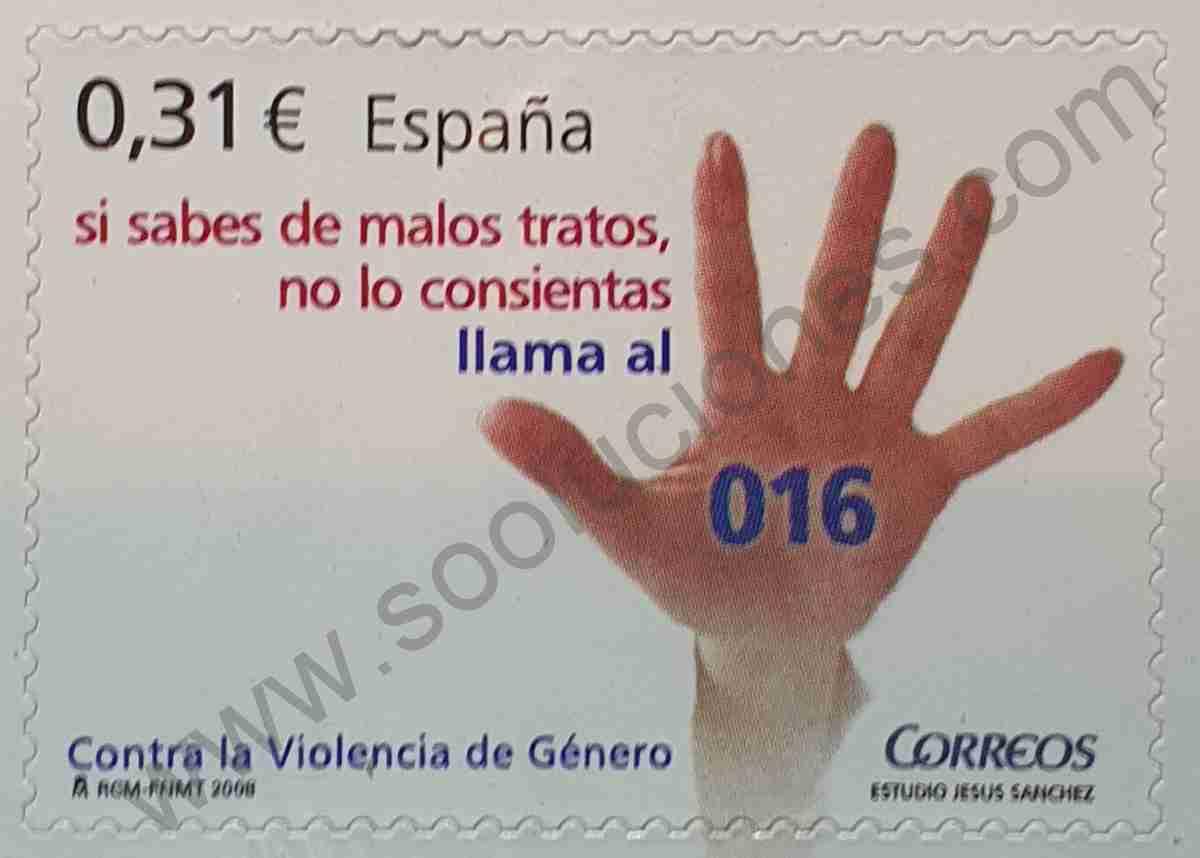Sello contra la violencia de género - España 2008
