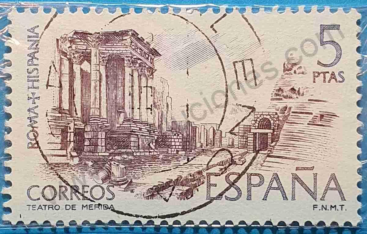 Sello Teatro de Mérida - España 1974