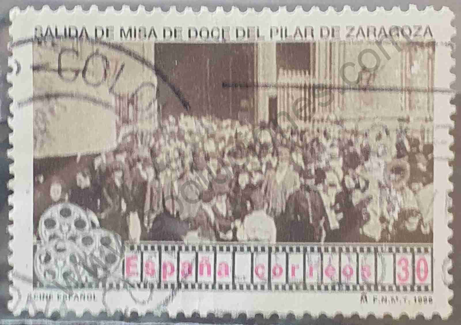 Salida de misa de doce del Pilar - Sello España 1996