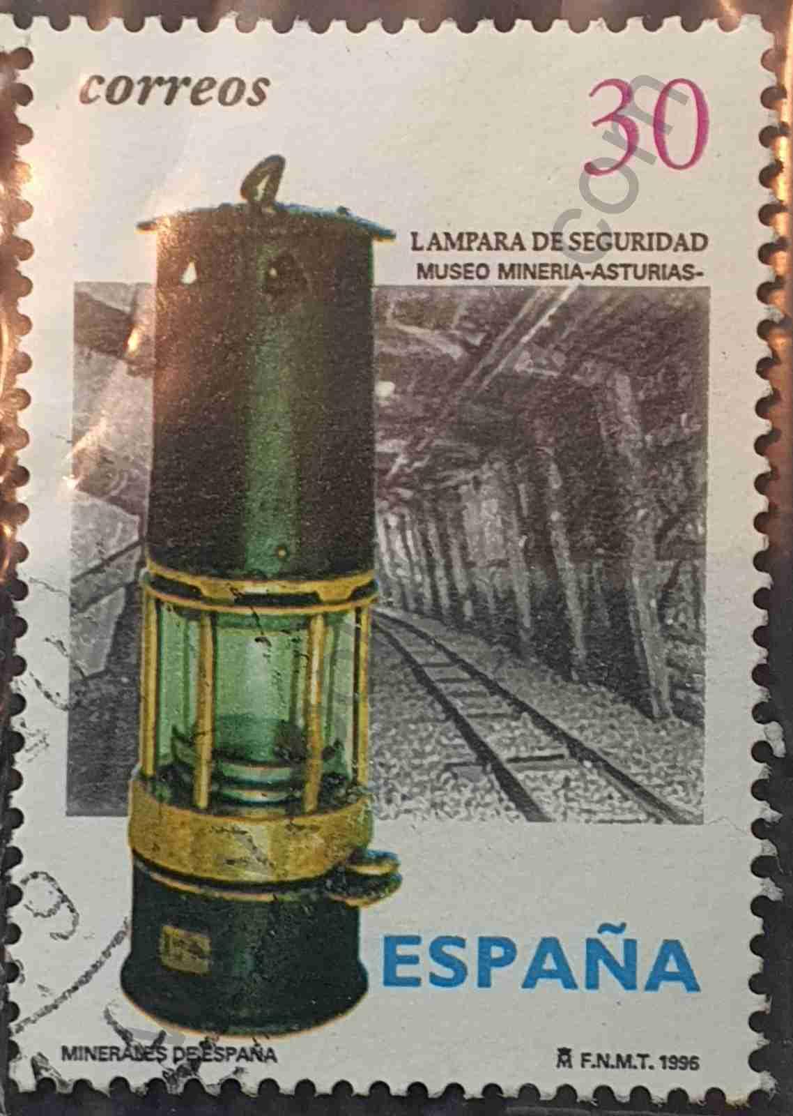 Minería, Minerales, Prevención de riesgos laborales, Sellos España, Spain Stamps