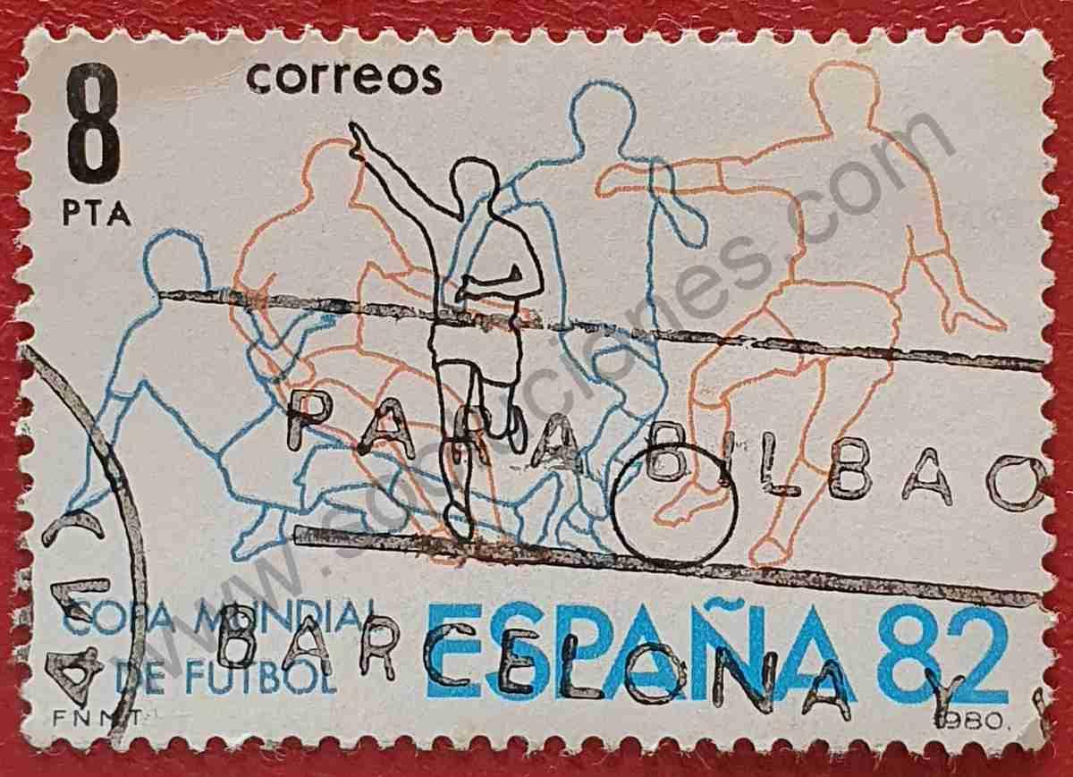Sello Campeonato fútbol España 82