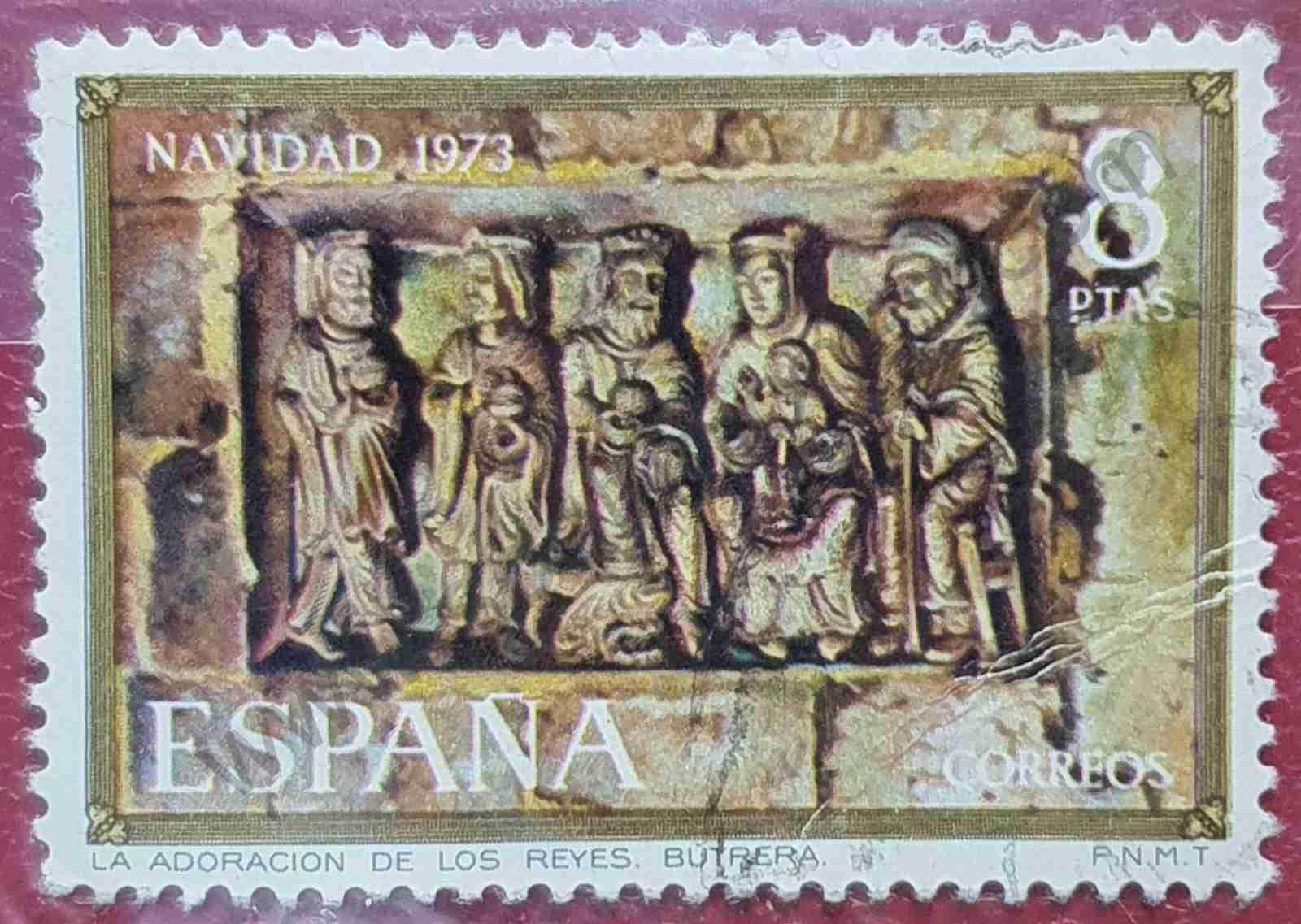 Adoración de los reyes - sello España 1973