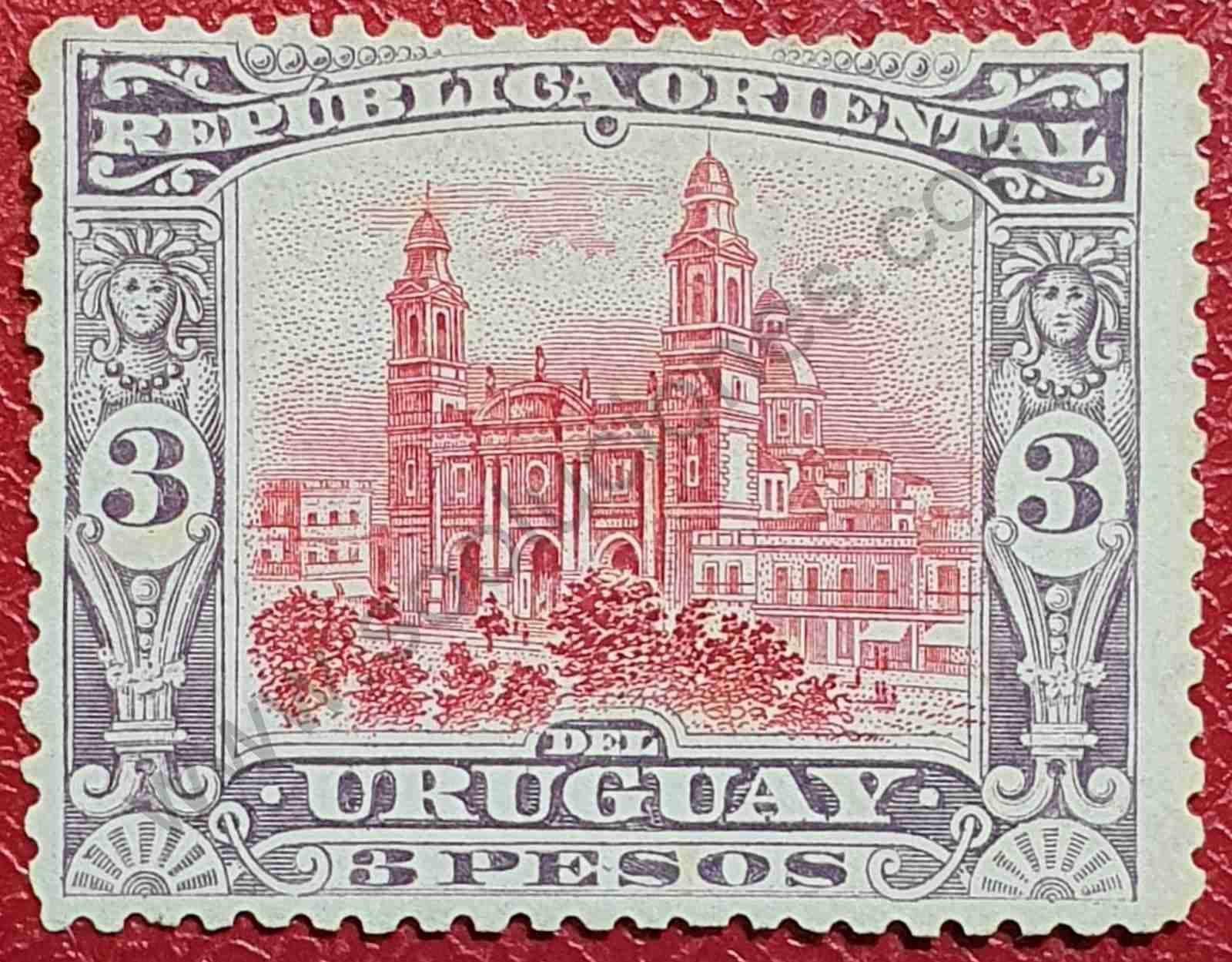 Catedral de Montevideo - Sello Uruguay 1897