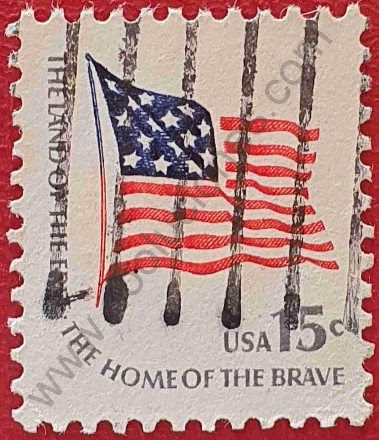 Bandera Fort McHenry - Sello Estados Unidos 1978
