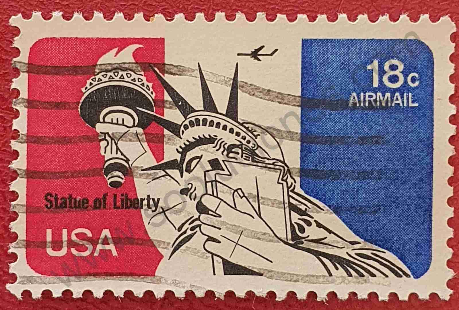 Estatua de la Libertad 18c - Sello Estados Unidos 1974