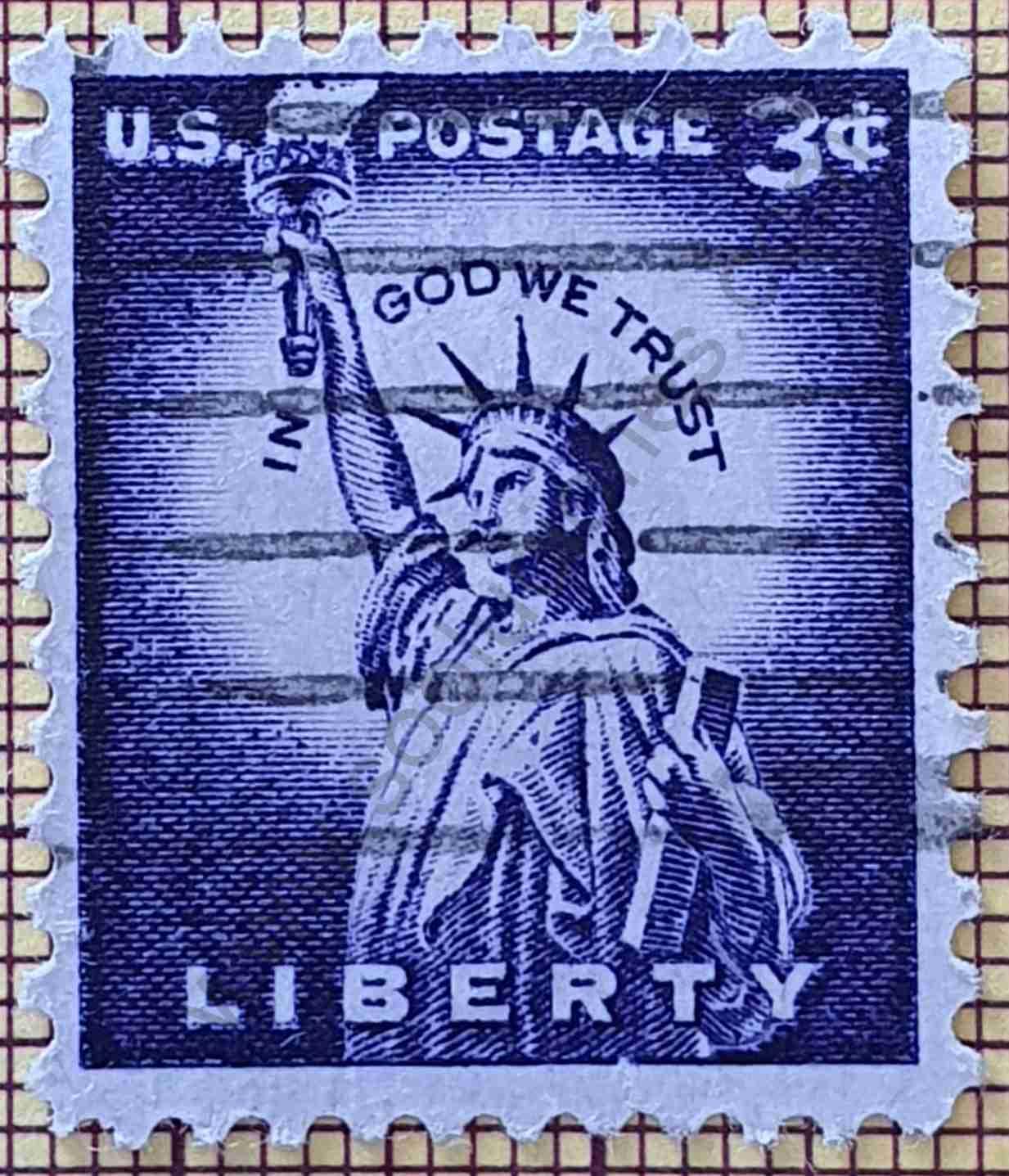 Estatua Libertad 3c - Sello Estados Unidos 1966