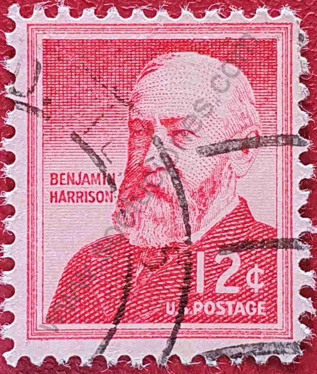 Benjamin Harrison 12c - Sello Estados Unidos 1959