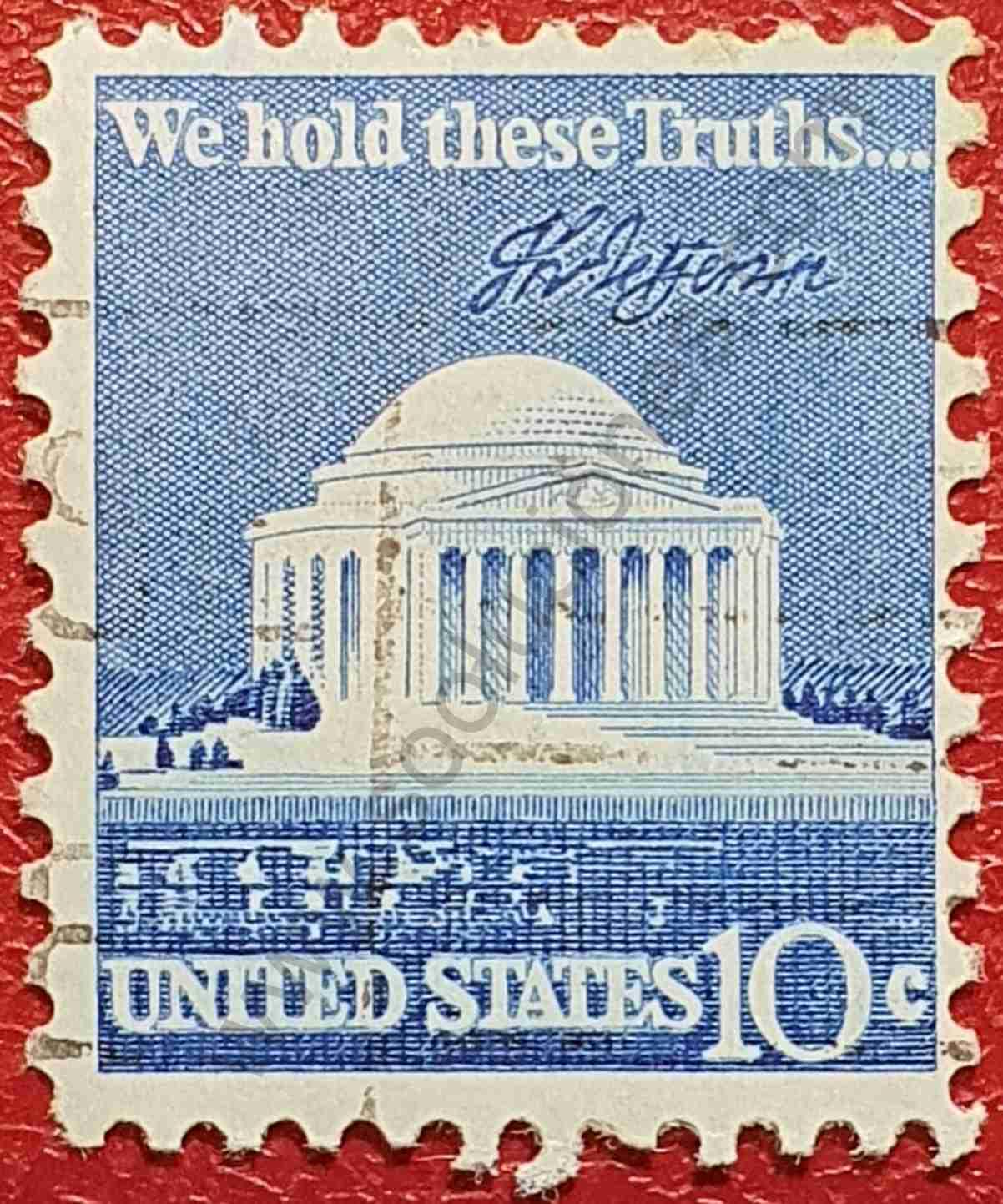 Memorial de Jefferson - Sello Estados Unidos 1973