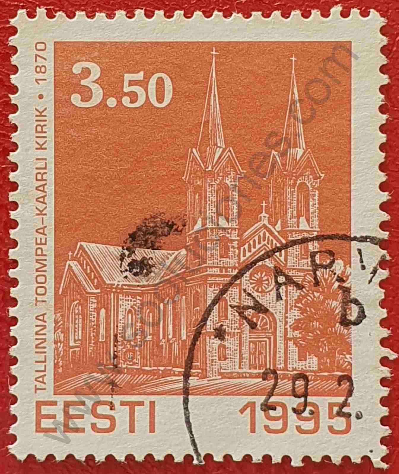 Iglesia San Carlos - Sello de Estonia 1995