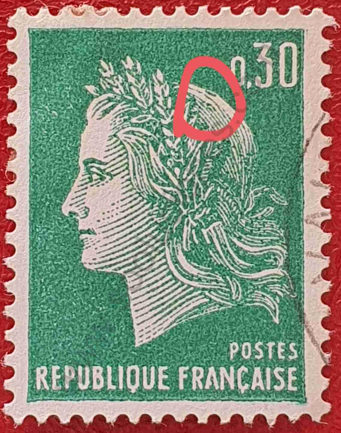 Marianne de Cheffer 1969 - Sello Francia