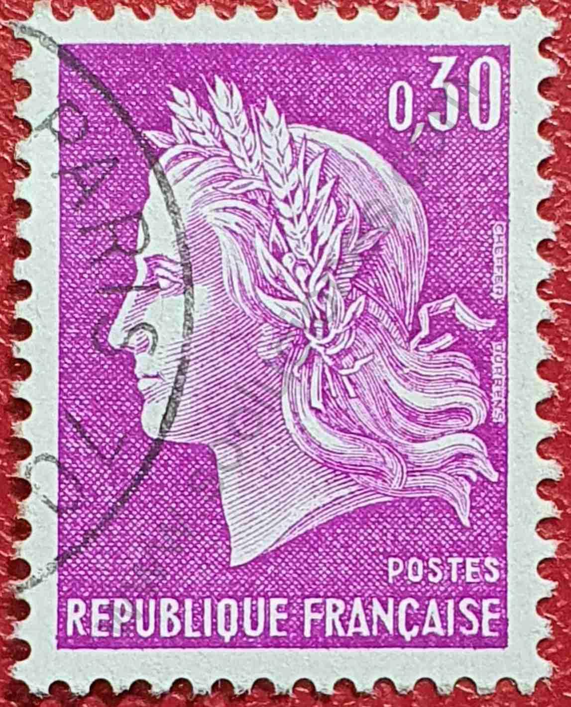 Marianne Cheffer 1967 - Sello Francia