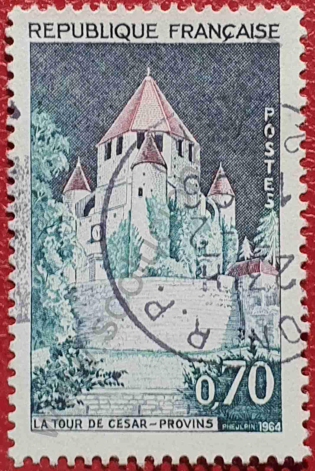 Torre de César - Sello Francia 1964
