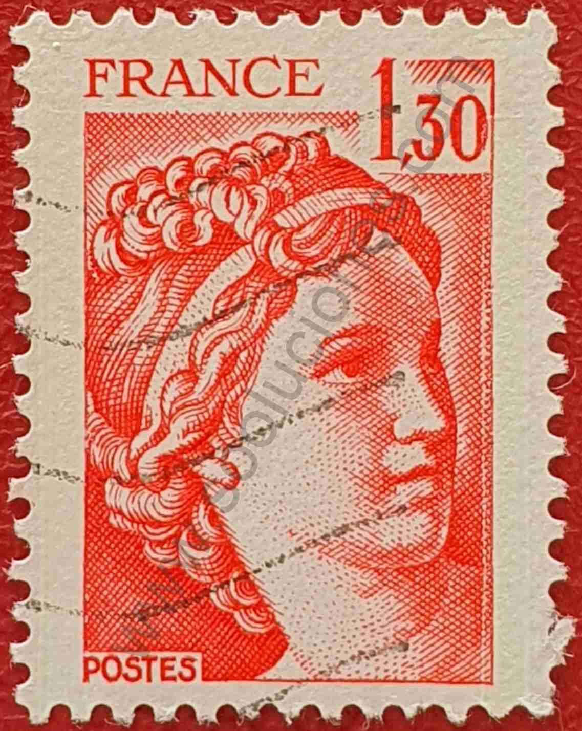 Sabine de Gandon 1'30 - Sello Francia 1979