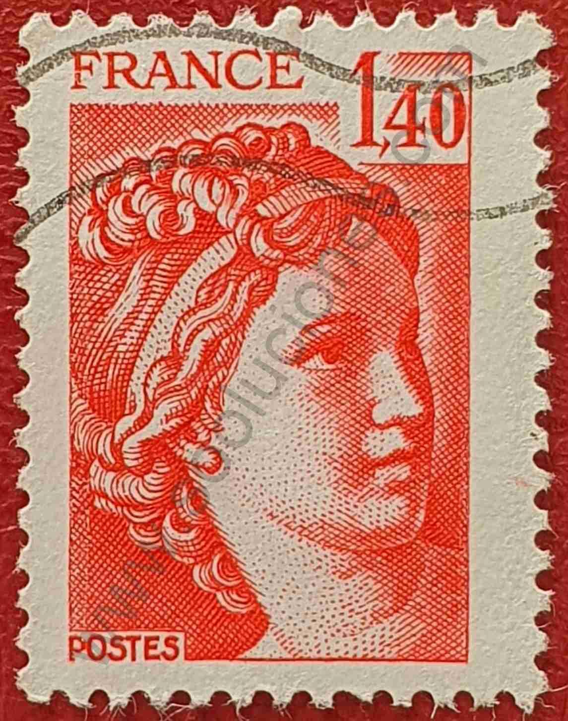 Sabine 1'40 - Sello Francia 1980
