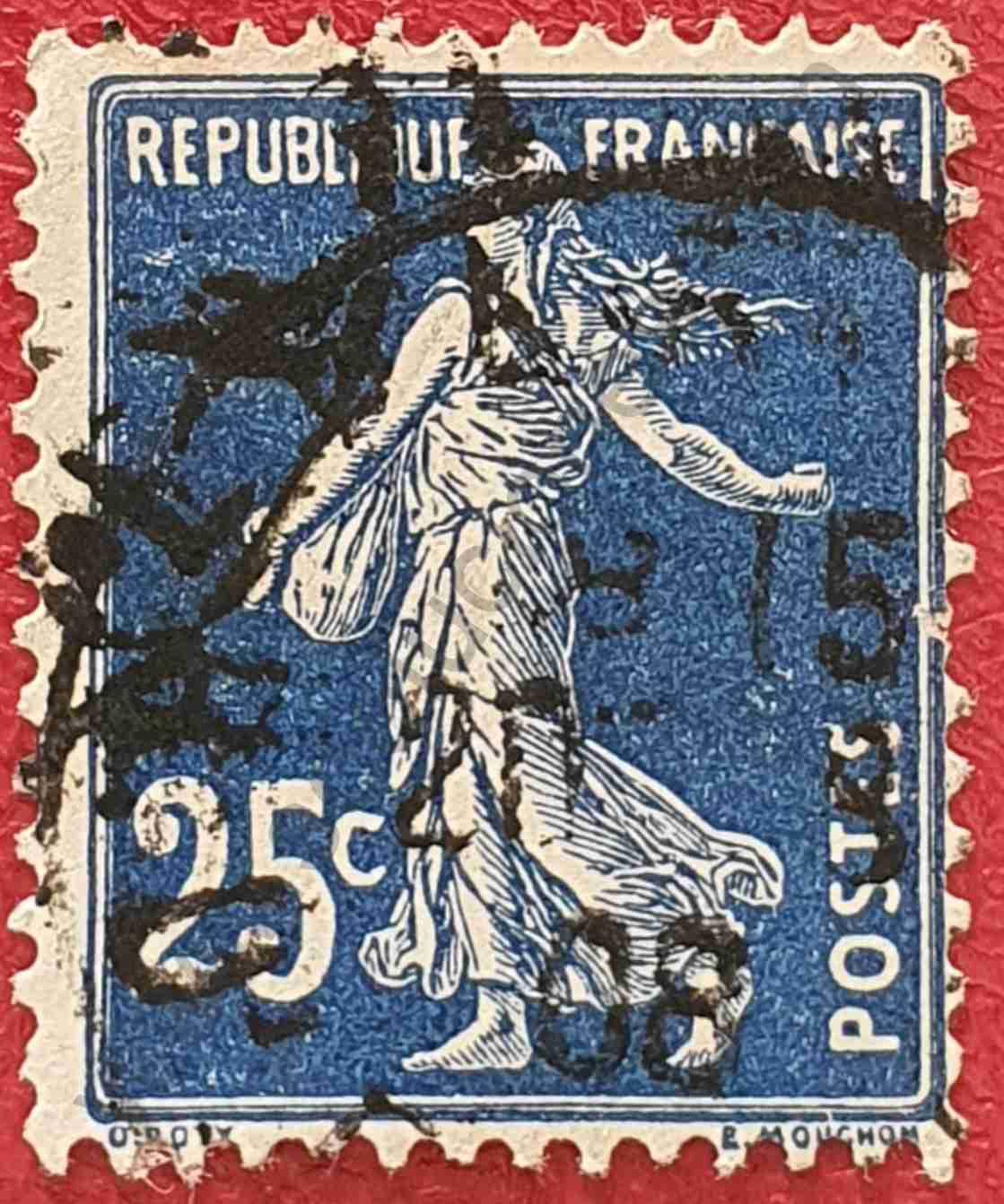 Sembrador 25c - Sello Francia 1907