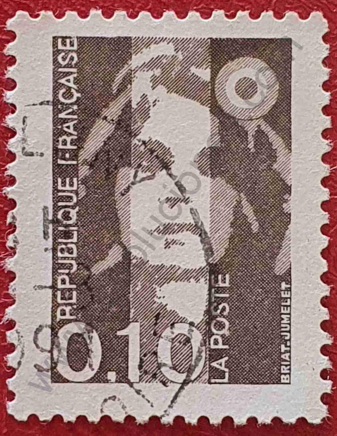 Marianne de Briat 0'10F - Sello Francia 1990