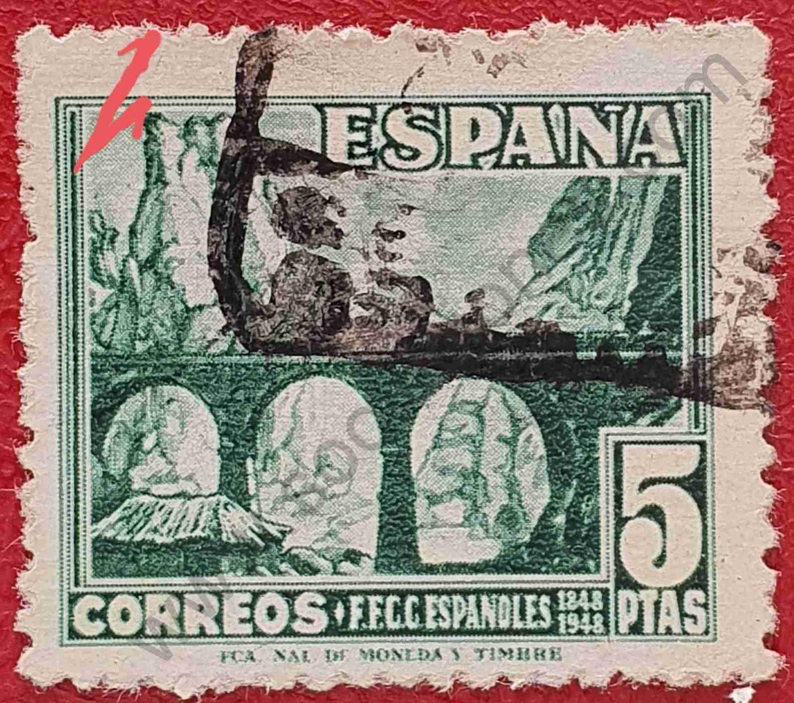 Desfiladero de Pancorbo - Sello España 1948