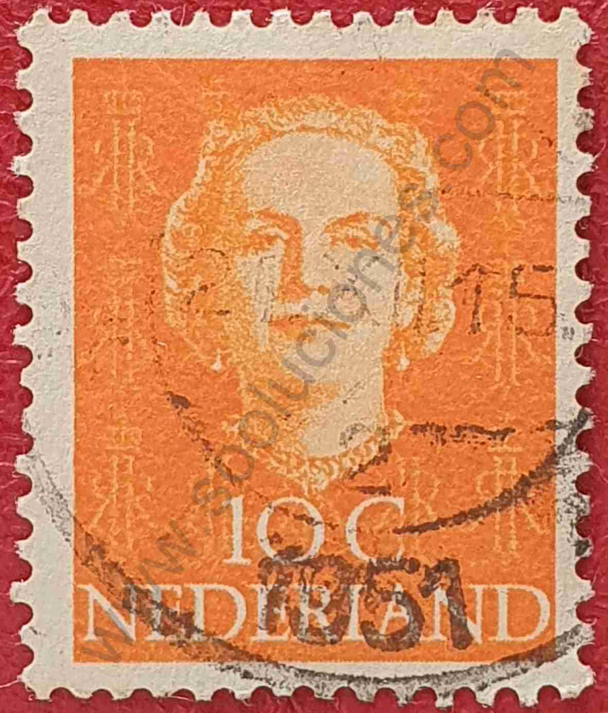 Reina Juliana - Sello Países Bajos 1949