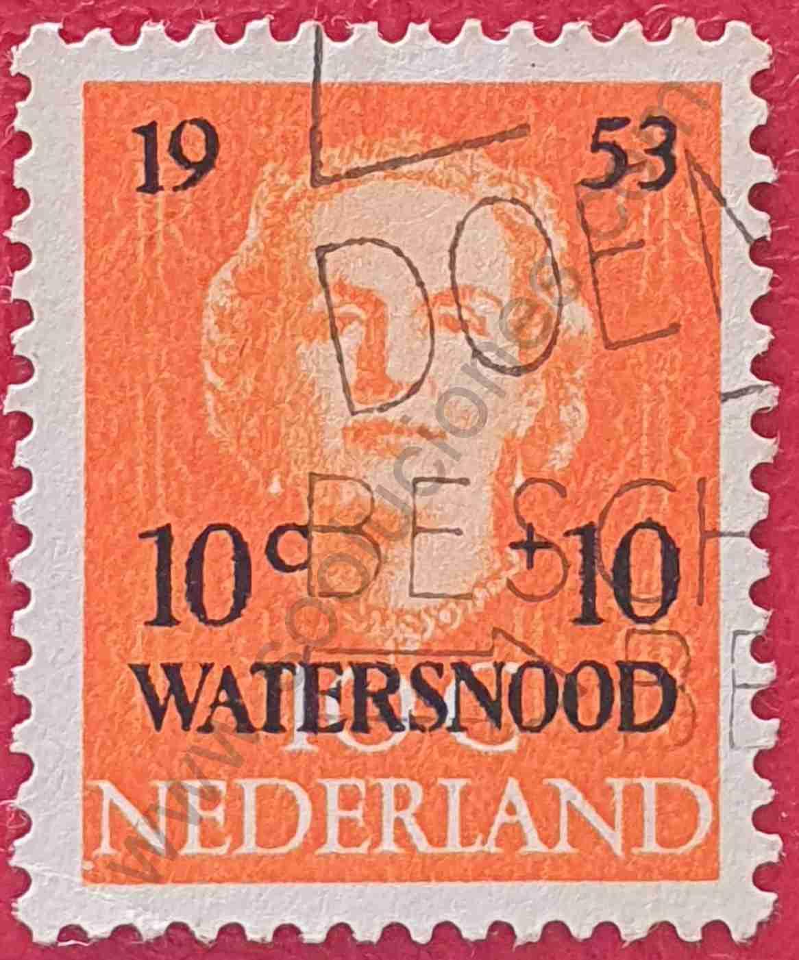 Reina Juliana - sello 1953 Países Bajos