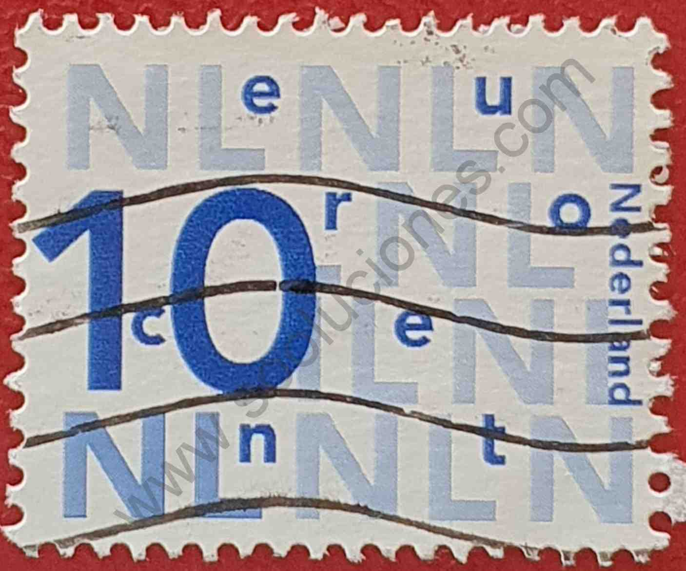 Número 10 - NL - Sello Países Bajos 2013