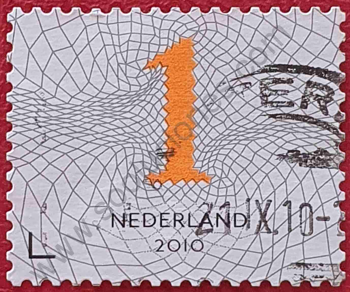 Número 1 - Sello Países Bajos año 2010