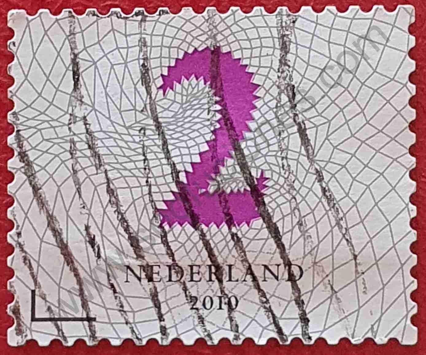 Número 2 - Sello Países Bajos año 2010