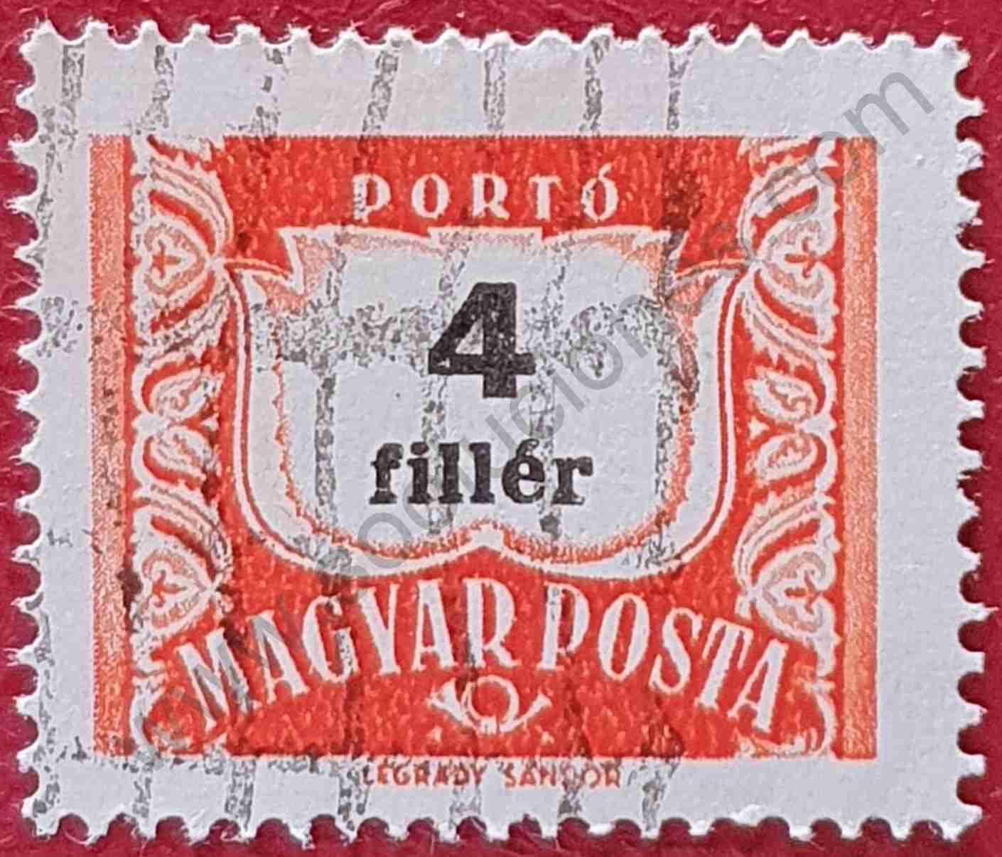 Número 4 - Sello Hungría año 1958