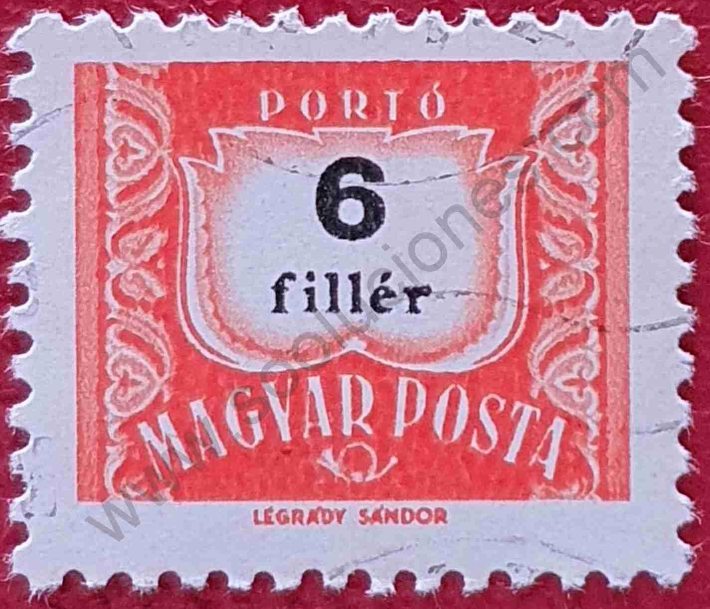 Número 6 - Sello Hungría 1965