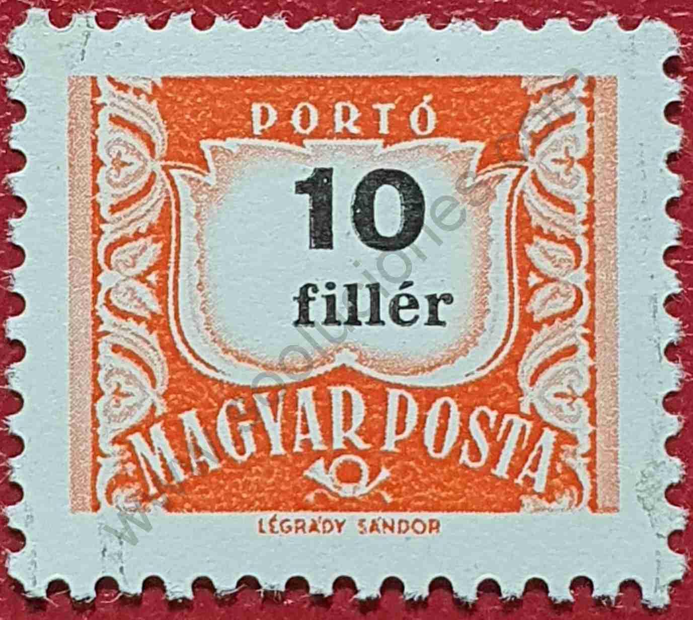 Número 10 - Sello Hungría 1965