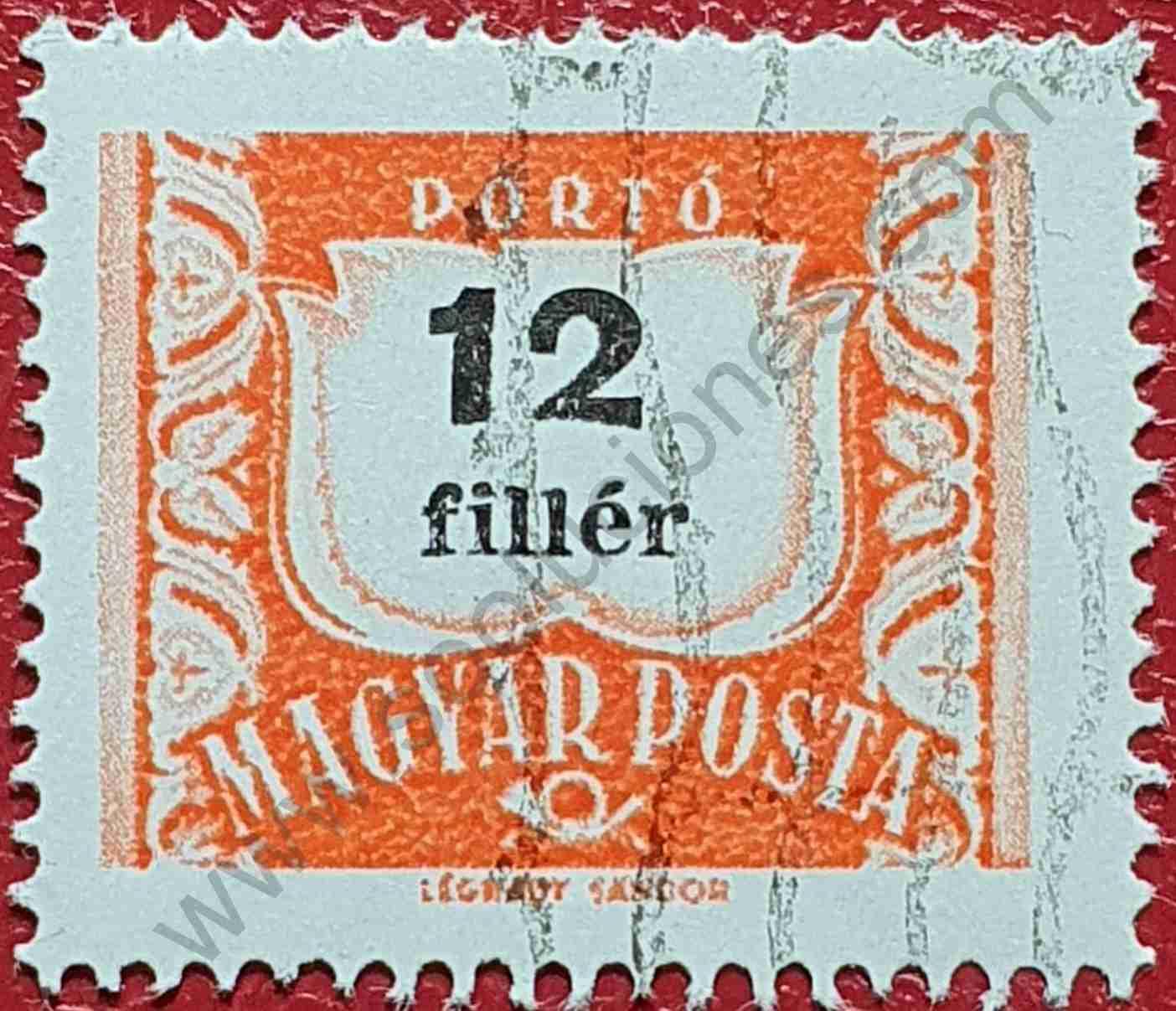 Número 12 - Sello Hungría 1958