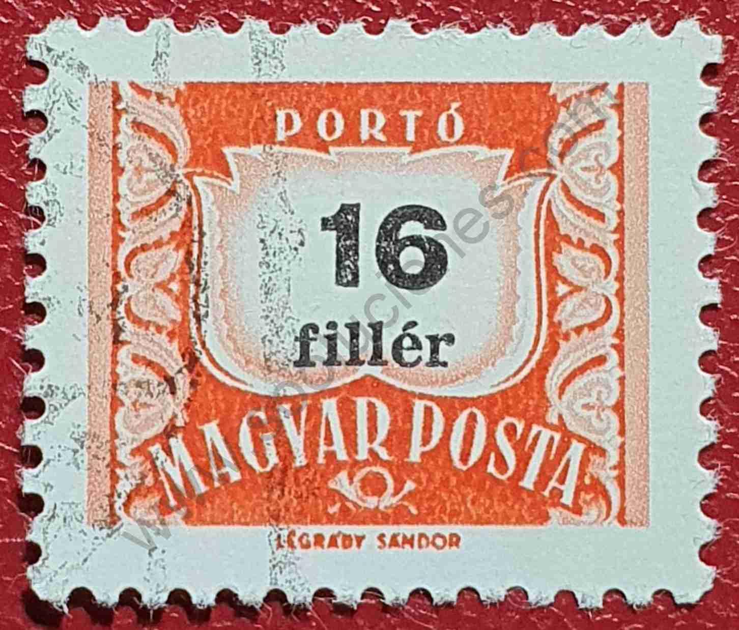 Número 16 - Sello Hungría 1965