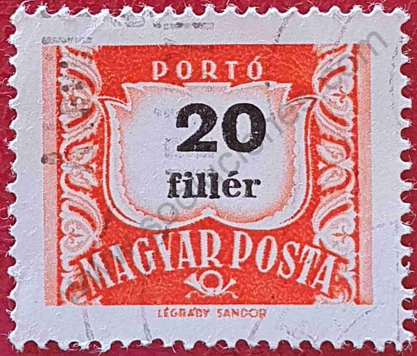 Número 20 - Sello Hungría 1958