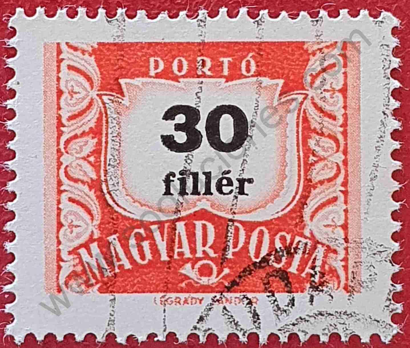 Número 30 - Sello Hungría 1958