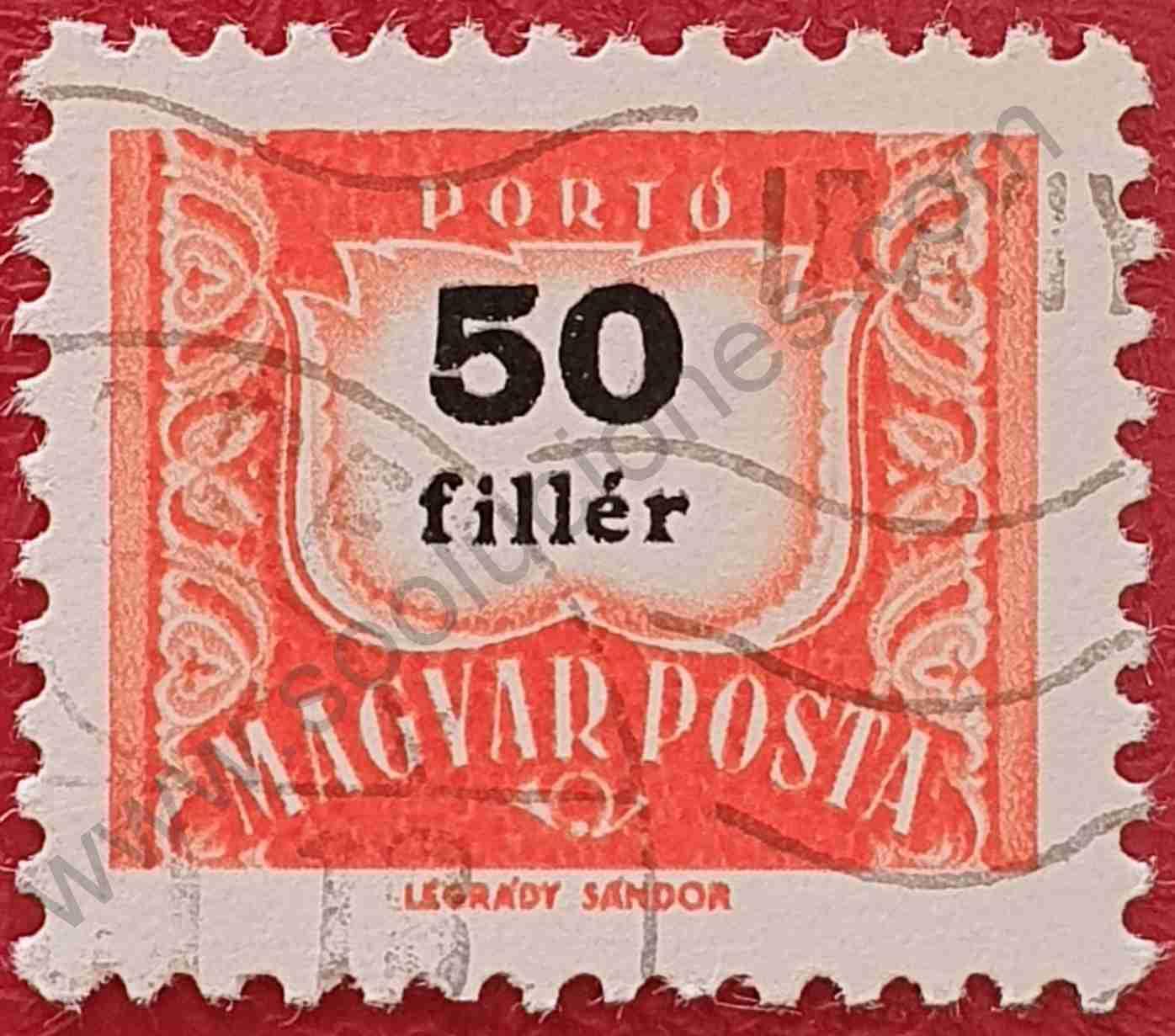 Número 50 - Sello Hungría 1965