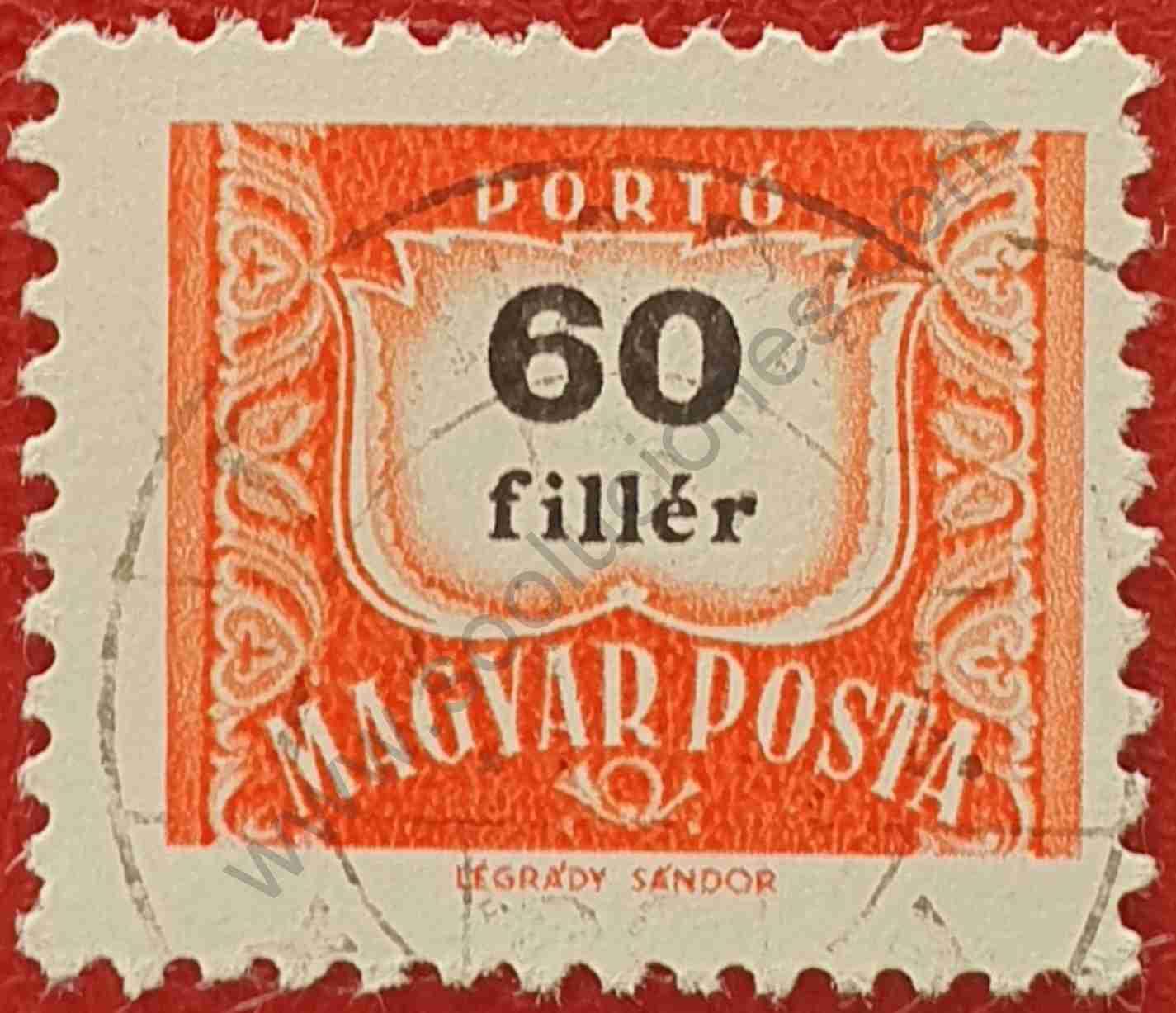 Número 60 - Sello Hungría 1965
