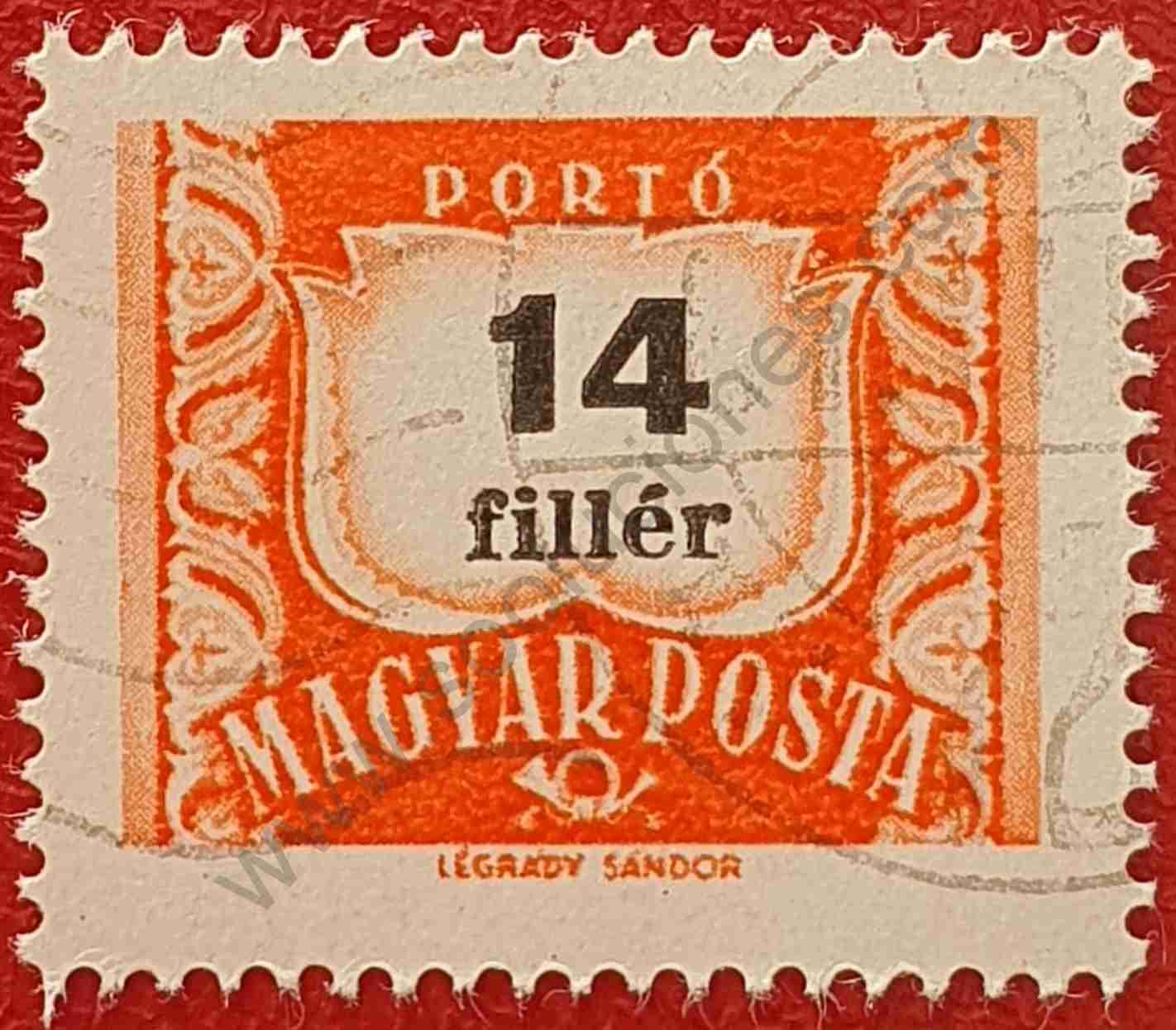 Número 14 - Sello Hungría 1958