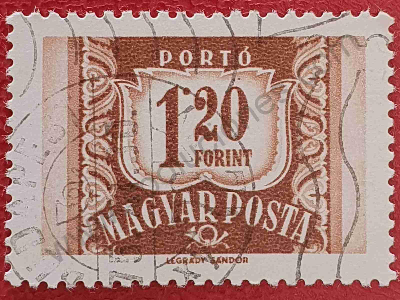 Número 1'20 - Sello Hungría 1965