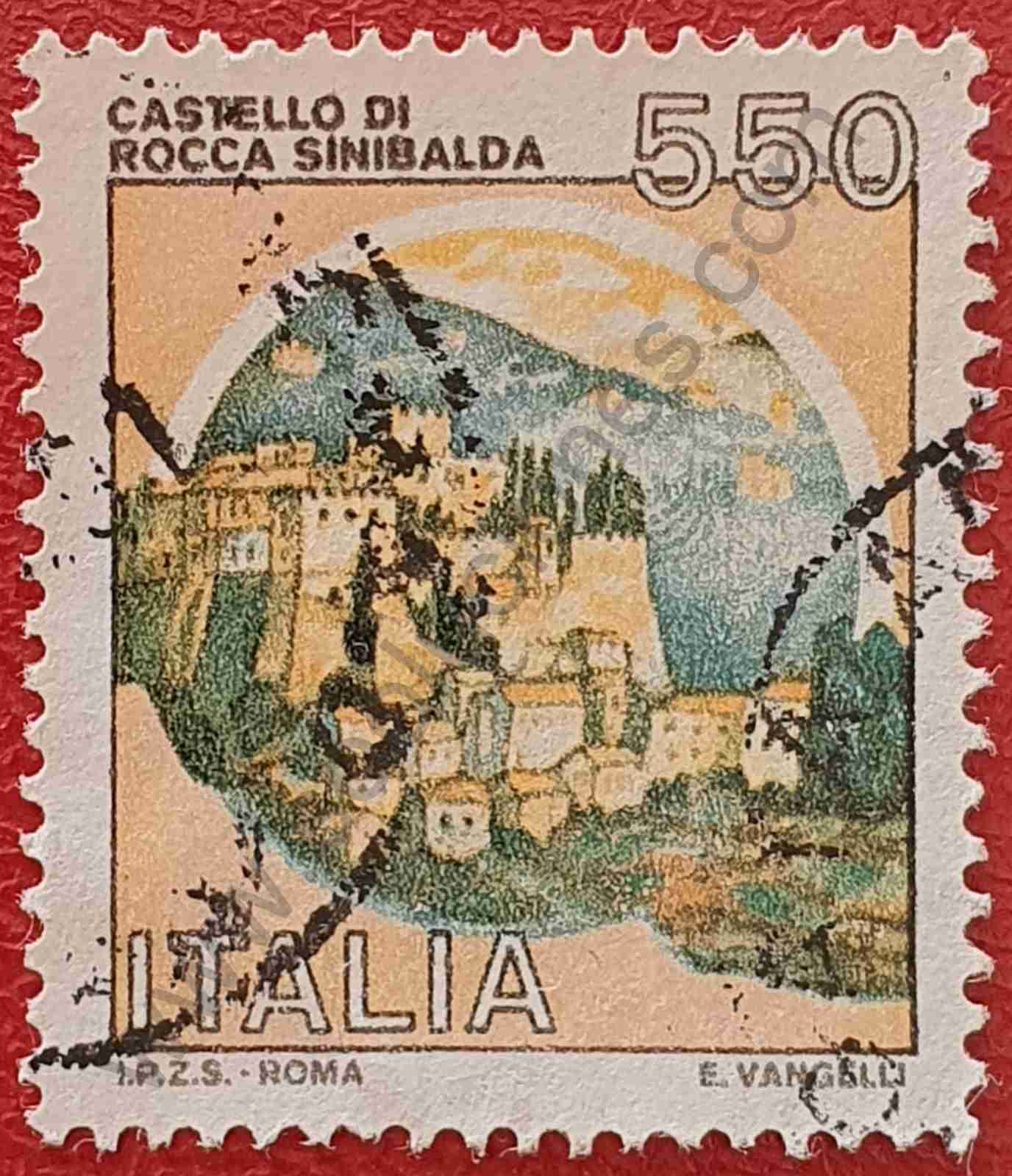 Castillo Rocca Sinibalda - Sello italiano año 1984