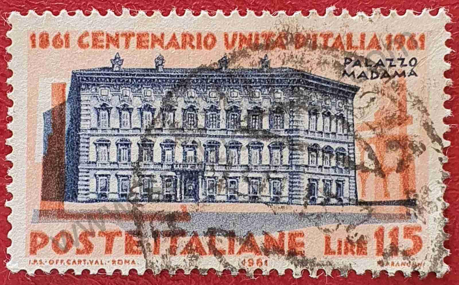 Palacio Madama - Sello Italia 1961