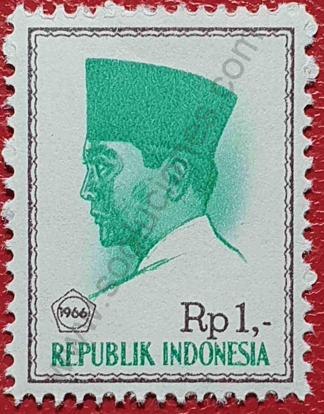 Sello Indonesia 1966 - Presidente Sukarno