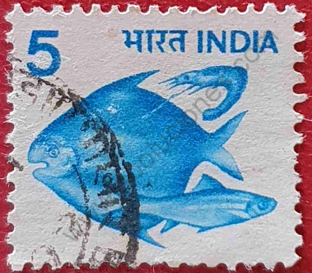 Sello peces - India 1982