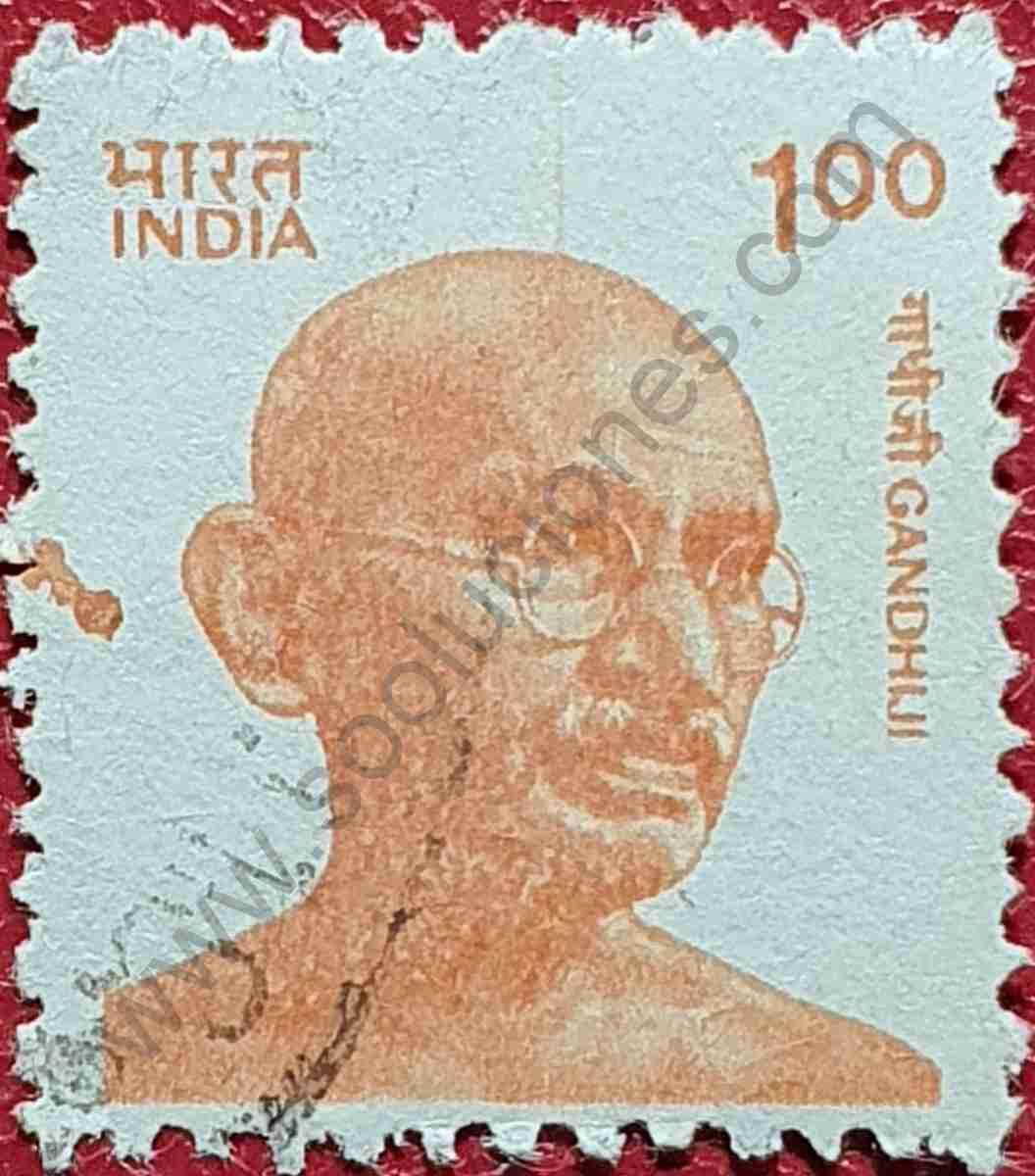 Sello Gandhi 1 Rupia - India 1991