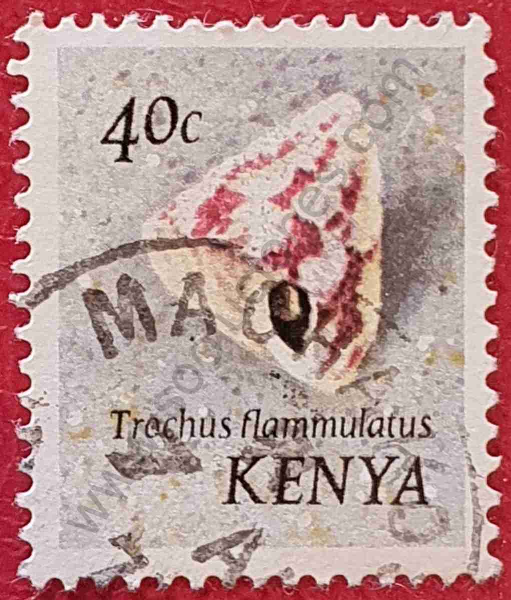 Sello caracol marino - Kenia 1971
